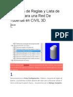 Creación de Reglas y Lista de Piezas Para Una Red de Tuberías en CIVIL 3D
