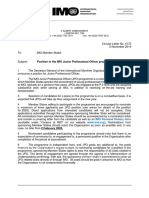 Circular Letter No.4173 - Position in the Imo Junior Professional Officer Programme (Secretariat)