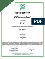 trio certificate