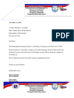 Letter for Security