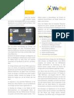 Neofonie Produktblatt WePad V1.2