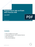 PearsonVUE Registration Process