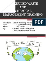 SW and Chemical Management Training