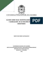 Fierro Marta - (pt. 1) Alvaro Uribe Neopopulismo, retórica y asimilación de discurso..pdf