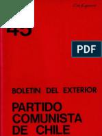 Boletín del Exterior Partido Comunista de Chile Nº45