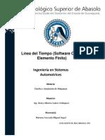 Linea del tiempo Software CAD y Elemento Finito