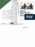 Manual de Escritura Para Cientificos Sociales.