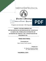 Tesis Doctoral Formulario de Registro de at Valencia