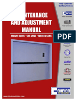 Parts Maintenance Adjustment Manual