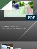 Characteristics of Successful Entrepreneurs-PPT
