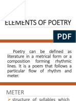 5 elements of Poetry