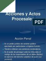 acciones y actos procesales