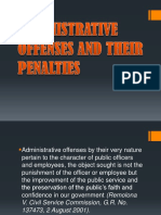 Administrative Offenses and Their Penalties