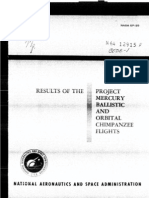 Results of the Project Mercury Ballistic and Orbital Chimpan