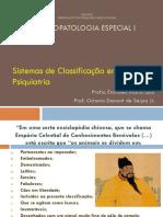 Psicopatologia - sistema classificatório - slides