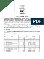 EDITAL PUC GOIÁS 2020/1 - 3° PROVA