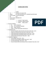 Contoh CV Untuk Melamar Kerja