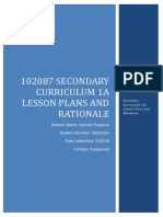 102087 secondary curriculum 1a lesson plans and rationale1