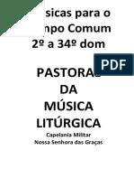 Livro de cânticos litúrgicos