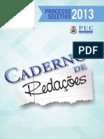 PUCCAMPINAS Caderno de Redacoes 2013