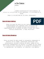 Tipos de Bases de Datos - El Blog de Base de Datos