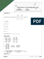 Resolução Desafio 1 série EM Matemática 2