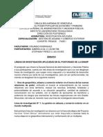 ENSAYO #1 LINEAS DE INVESTIGACION POSTGRADO.docx