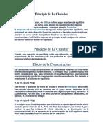 Principio de Le Chatalier