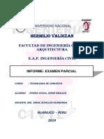Examen Parcial de Tecnologia Concreto 2019 II