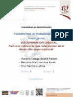 Factores Culturales Que Intervienen en El Desarrollo Organizacional