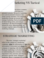 Chapter 4 - Strategic and Tactical Marketing