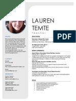 laurens teaching resume