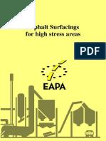 Asphalt Surfacings for High Stress Areas