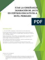 Incentivar La Enseñanza de Programación de Java En