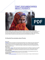 8 Important Documentaries About Poverty