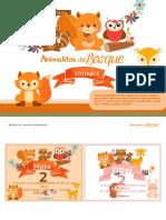 Plantilla Kit Animalitos Del Bosque