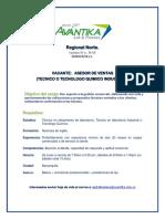 Publicación Vacante Asesor de Ventas Barranquilla