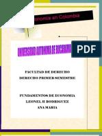 ECONOMIA DE COLOMBIA