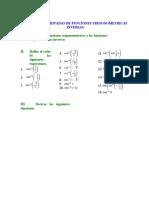 Ejercicios Derivadas Funciones Trigonométricas Inversas