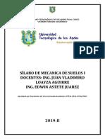 Mecánica de Suelos Utea Silabo Final.docx