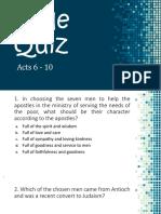 Bible Quiz 2 - Acts 6 - 10