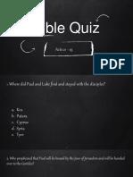 Bible Quiz 3 - Acts 21 - 25