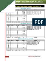 Pairing Scheme Final Paper Pattern 10th 2019-20