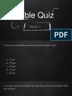 Bible Quiz 3 - Daniel 8 - 12
