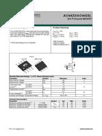 Datasheet AO4423