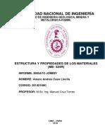 Informe de Estructura- Jominy