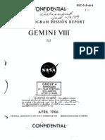 Gemini Program Mission Report Gemini Viii