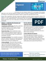 Application Development and Maintenance   Maintec