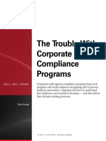 The Trouble with Corporate Compliance Programs
