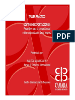 TALLER PRÁCTICO. COSTEO de EXPORTACIONES_ Pieza Clave Para La Competitividad e Internacionalización de Su Empresa. Presentado Por